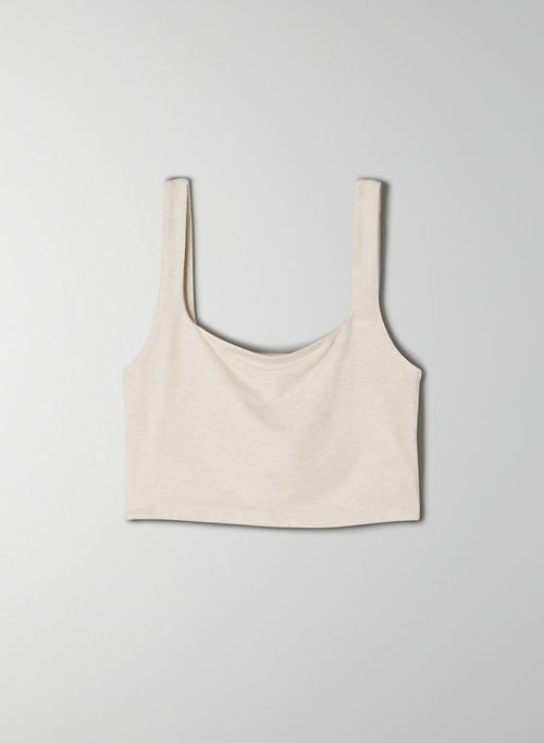 VACAY TANK - Cropped, square-neck tank