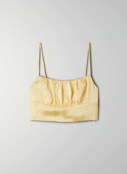 SONNET CAMISOLE - Ruched, cropped tank