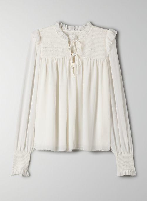 CASTELLO BLOUSE - Chiffon ruffle blouse