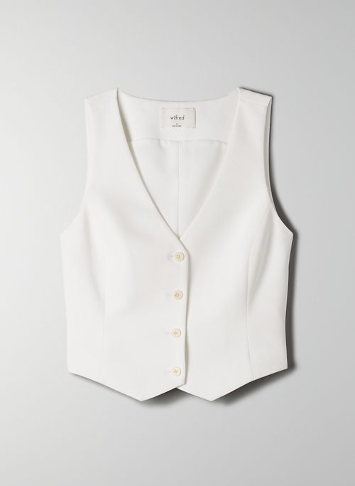 BUDINO VEST - Cropped, button-up vest