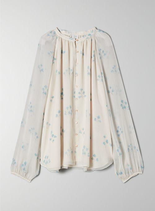 SANTIAGO BUTTON-UP - Button-up, balloon-sleeve blouse