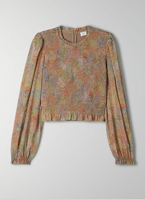 TEMPEST BLOUSE - Cropped chiffon prairie blouse