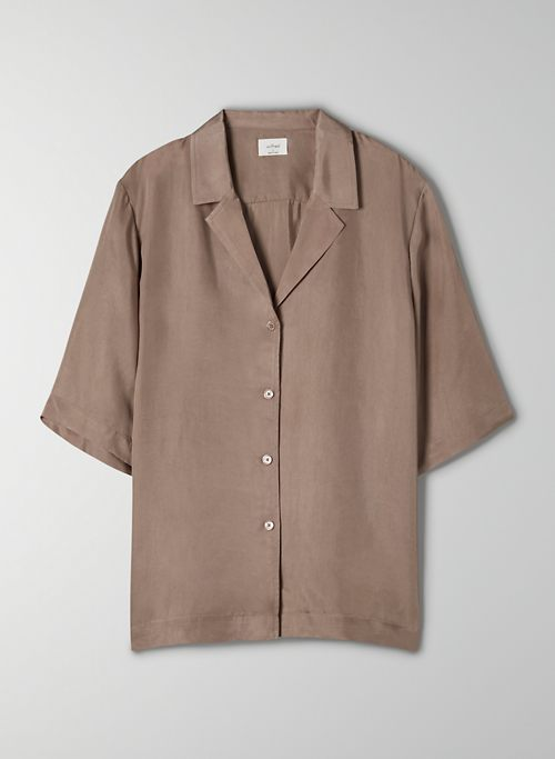ARIES BUTTON-UP - Short-sleeve bowler blouse