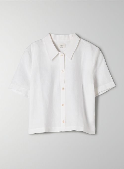 GELATO BUTTON-UP - Organic linen button up blouse