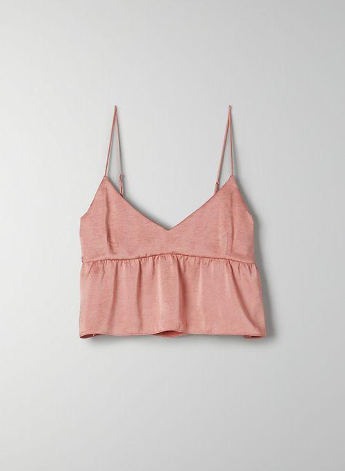 LOVER CAMISOLE - Peplum V-neck camisole top