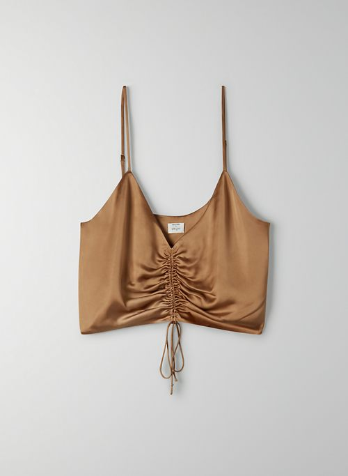 VERSO CAMISOLE - Ruched satin camisole