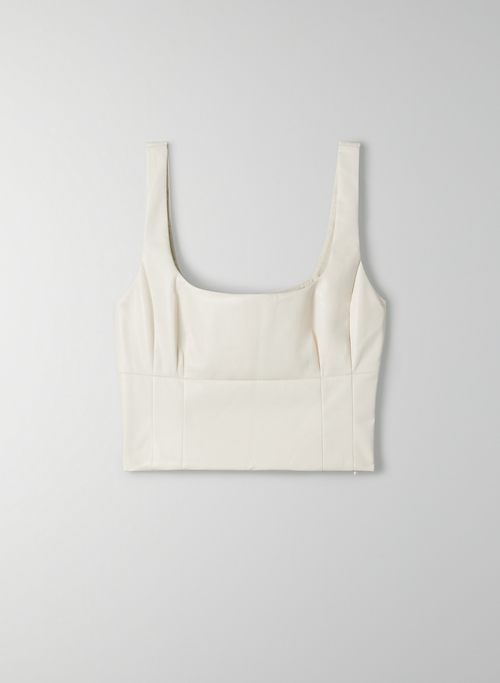 SHINE BUSTIER - Cropped, Vegan Leather bustier tank