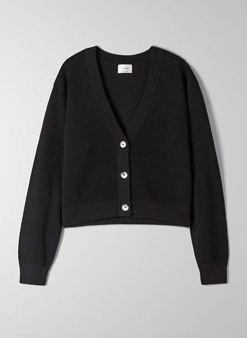 LIGHT CROPPED CARDIGAN - Cropped V-neck cardigan