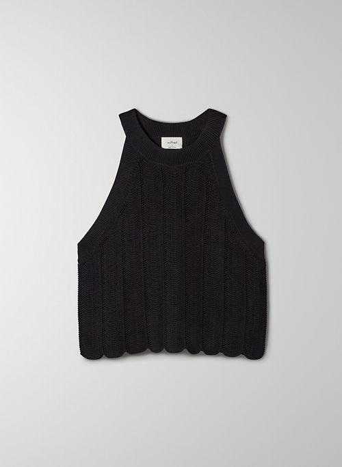NEW HALTER TANK - Halter sweater tank top