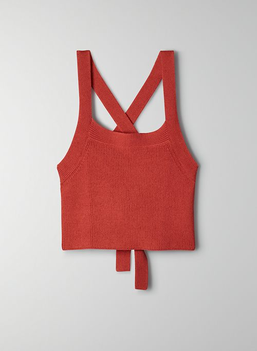NEW CAYENNE TOP - Cropped knit halter top