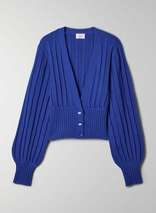 PLUNGE FRONT CARDIGAN - Cropped, deep V-neck cardigan