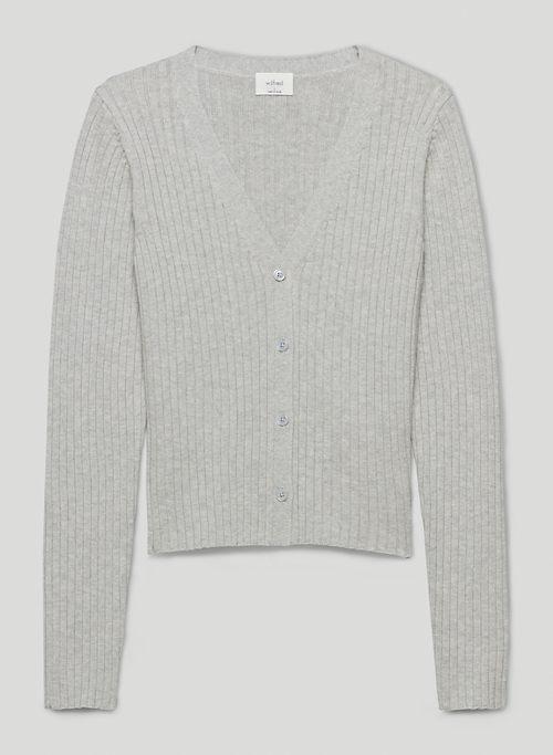 MANILA CARDIGAN - Ribbed merino wool cardigan