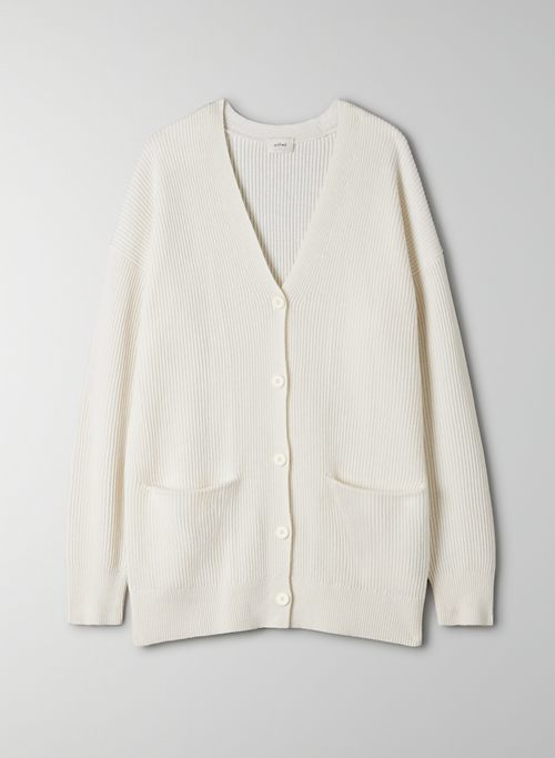 ASCONA CARDIGAN - Oversized V-neck cardigan