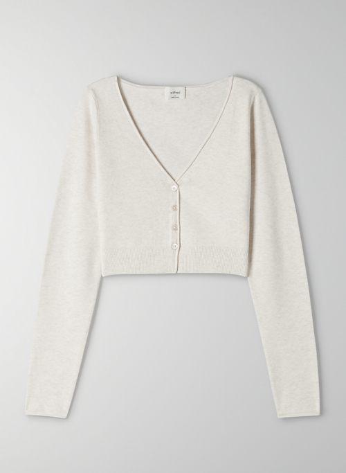 SANTORINI CARDIGAN - Cropped, V-neck cardigan