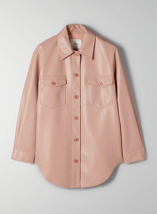 GANNA JACKET - Faux leather shirt jacket