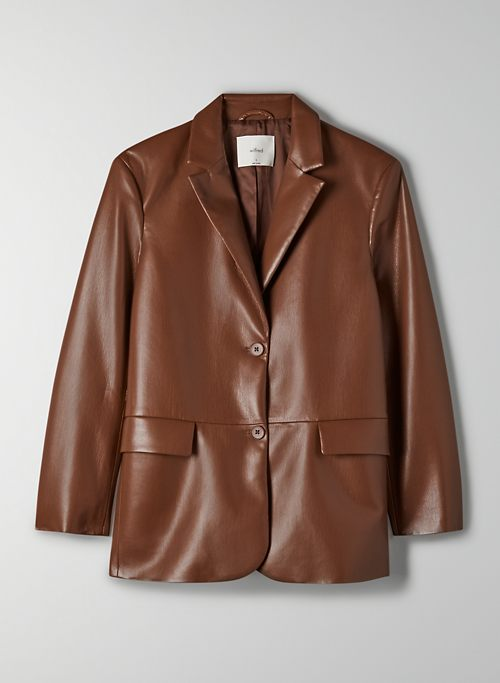 MEMORIES BLAZER - Single-breasted, Vegan Leather blazer