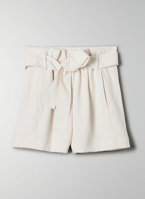 NEW PAPERBAG SHORT - High-waisted, self-tie shorts
