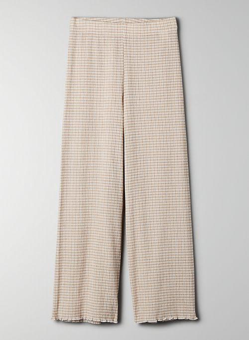 VERONA PANT - Wide-leg seersucker pant