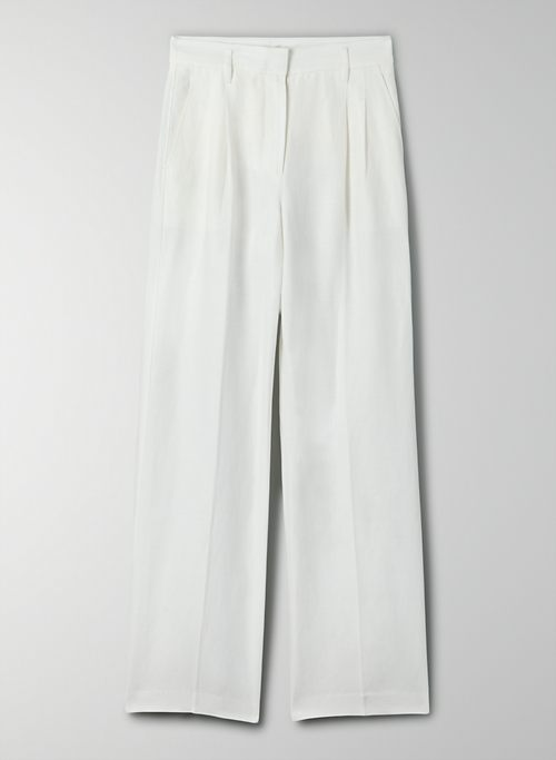 EFFORTLESS LINEN PANT - High-waisted, pleated linen pants