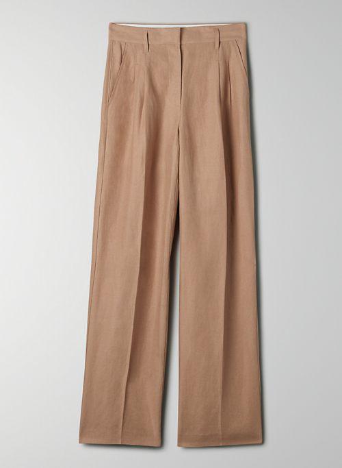 EFFORTLESS LINEN PANT - High-waisted, pleated linen pants