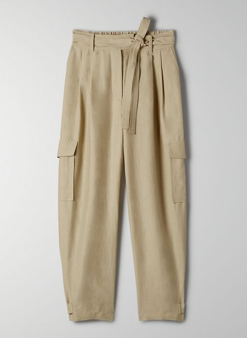 KAFKA PANT - Belted cargo pants