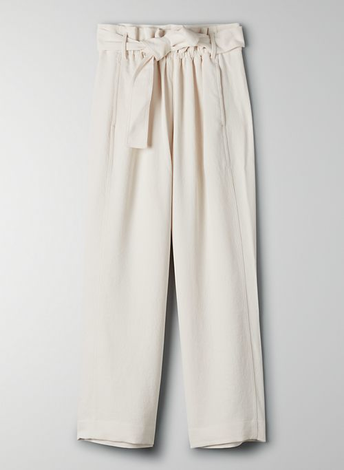 NEW PAPERBAG PANT - Cropped wide-leg trouser