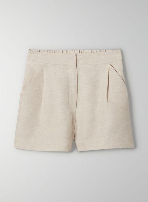 FABLE LINEN SHORT - High waisted linen shorts