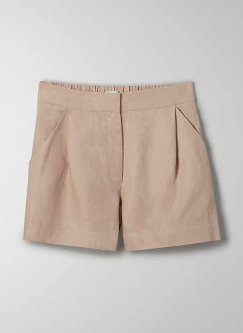 FABLE LINEN SHORT - High waisted linen shorts