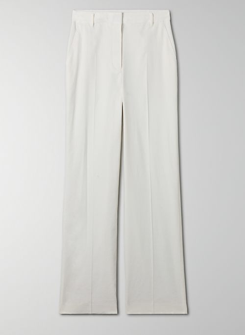 TRIESTE PANT - High-waisted, linen-blend, wide-leg pant