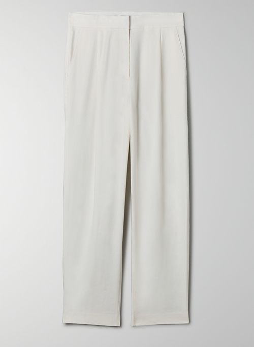 MAURITIUS PANT - High-waisted, linen, pleated carrot pants