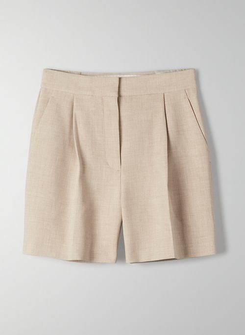 IBIZA SHORT - High-waisted, pleated shorts