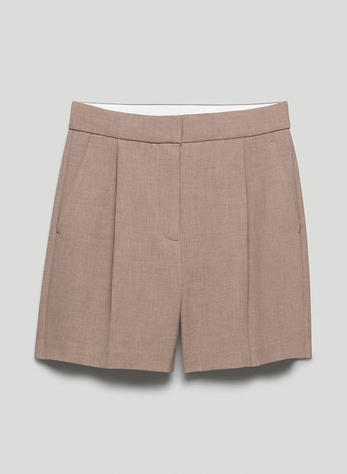 IBIZA SHORT - High-waisted, pleated shorts