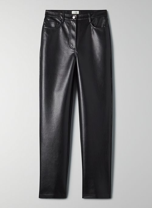 MELINA PANT - High waisted, faux leather pants