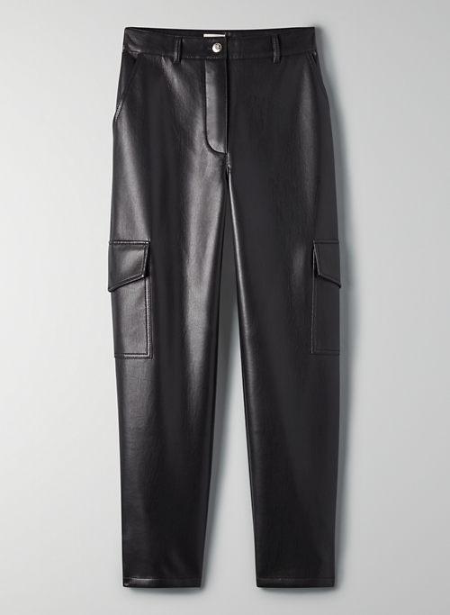 MODERN CARGO PANT - High-waisted Vegan Leather cargo pants