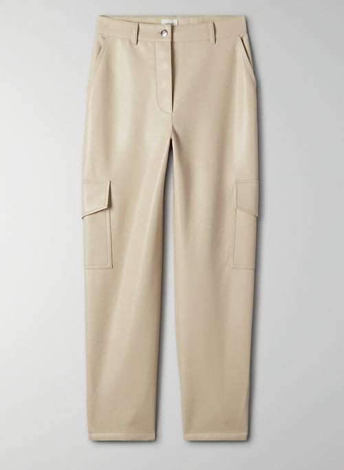 MODERN CARGO PANT - High-waisted Vegan Leather cargo pant