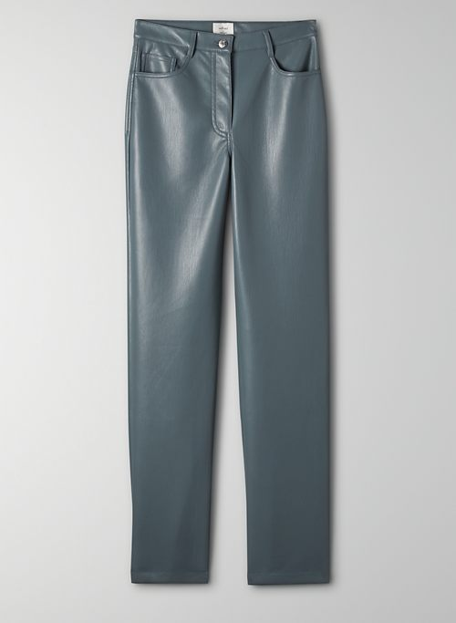 MELINA PANT - High-waisted faux leather pants