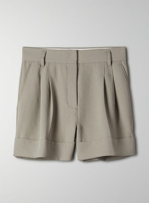 LABYRINTH SHORT - Cuffed, pleated shorts