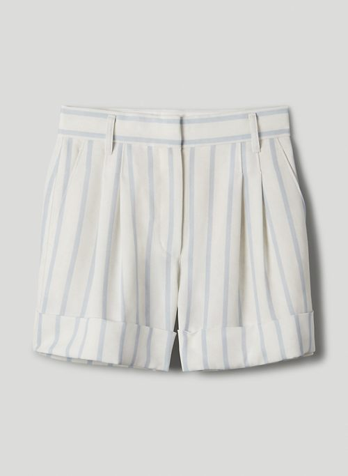 LABYRINTH SHORT - Cuffed, pleated shorts