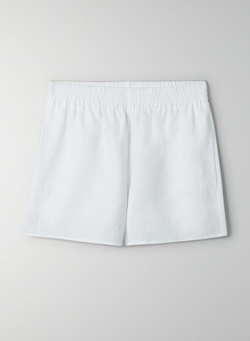 GELATO SHORT - Organic linen high-waisted shorts
