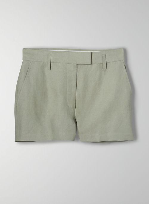 LAYOVER SHORT - High-waisted linen short