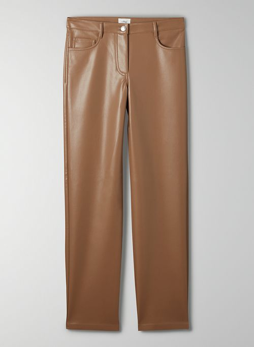 MELINA LOW RISE PANT - Low rise, vegan leather pant