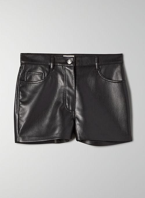 MELINA SHORT - High waisted, faux leather shorts