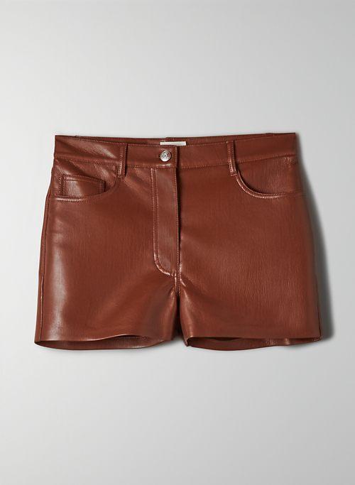 MELINA SHORT - High-waisted Vegan Leather shorts