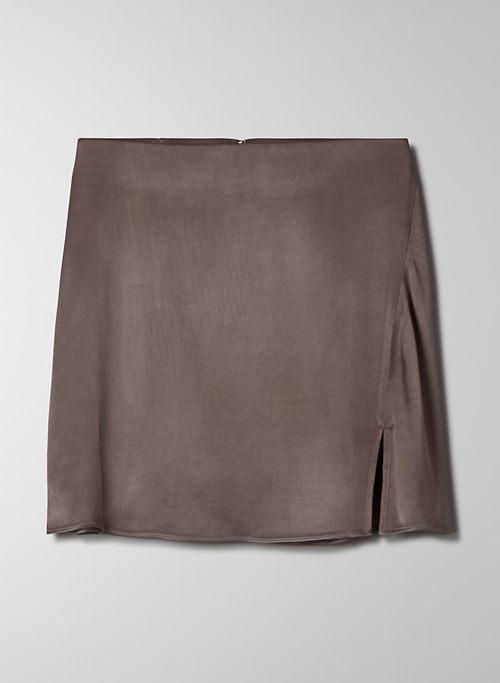 MUSE SKIRT - Satin mini skirt