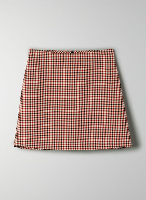 CLASSIC MINI SKIRT - Plaid, A-line mini skirt