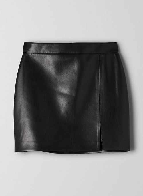 TEMPEST SKIRT - High-waisted, Vegan Leather mini skirt
