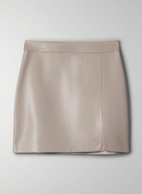 TEMPEST SKIRT - High-waisted, Vegan Leather mini skirt