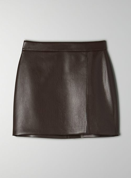 TEMPEST SKIRT - High-waisted Vegan Leather mini skirt