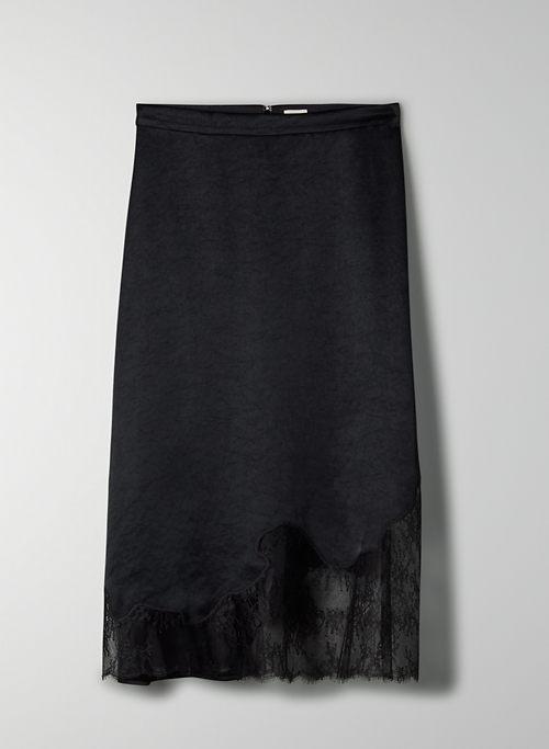 SONNET SKIRT - Midi lace slip skirt