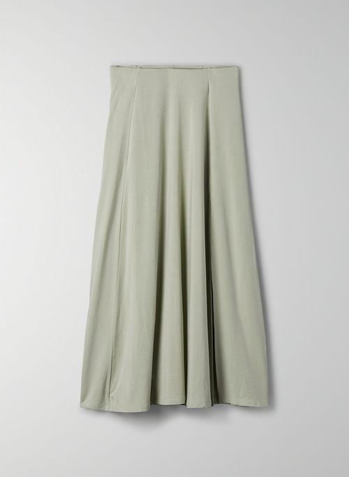 BEACH SKIRT - High-waisted midi skirt with slit
